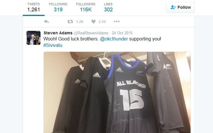 Steven Adams promotes his 'Kiwiness' on social media.