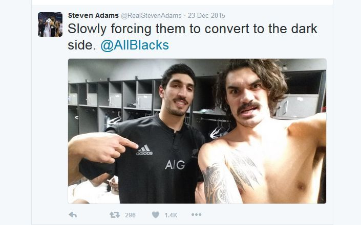 Steven Adams celebrates his 'Kiwiness' on social media.