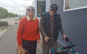 Bob Paterson, 93, and his wife Rae today visited their local bank for the last time.