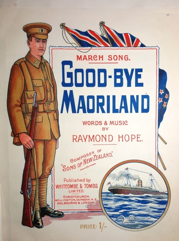 Goodbye Maoriland sheet music cover