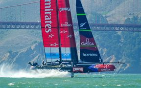 Team NZ at the 2013 America's Cup final races in San Francisco.