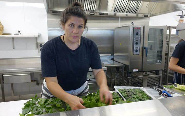 Otakaro Orchard chef Aliesha McGilligan will produce from the garden at the cafe.