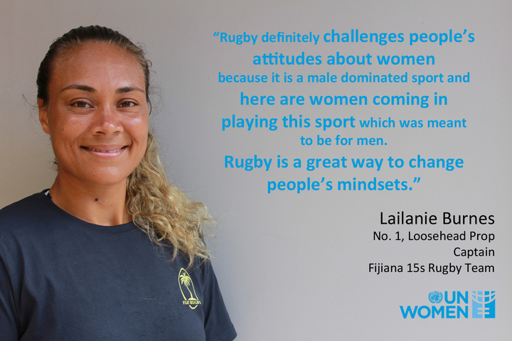 UN Women is backing the Fijiana 15s Rugby team to help tackle gender inequality in sport.