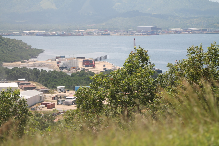 Ravuvu Business Park, overlooking Fairfax Harbour, is part of an industrial growth zone associated with the petro-chemical sector, north-west of Papua New Guinea's capital Port Moresby.