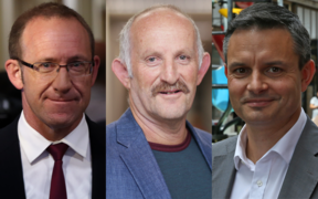 Andrew Little, Gareth Morgan and James Shaw