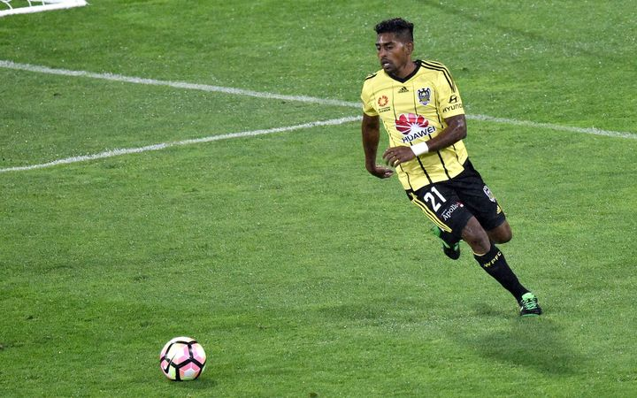 Roy Krishna in action for the Wellington Phoenix.