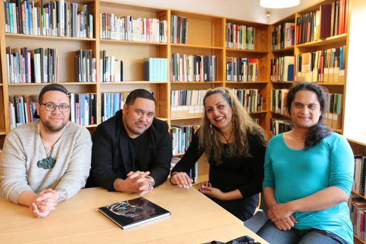 Whatitiri Te Wake, Jordon Harris, Shannon White and Stacey Kerapa at the offices of the New Zealand Aids Foundation, Auckland.