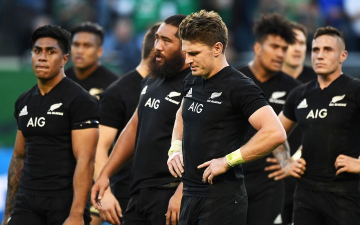 All Blacks after loss to Ireland 2016.