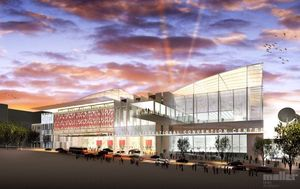 An artist's impression of the convention centre.