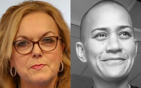 Corrections Minister Judith Collins and dying prisoner Vicki Letele