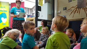 NZEI president Louise Green at the launch of the campaign at Hill St early childhood centre .