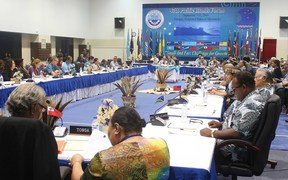 Plenary session of the 2016 Pacific Islands Forum Summit in the Federated States of Micronesia.