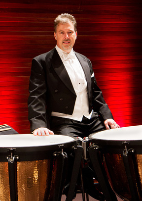 NZSO Principal Timpanist Larry Reese