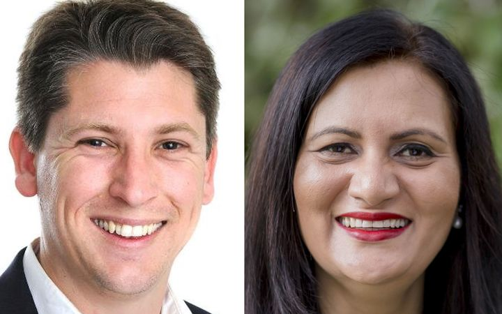 Mount Roskill by-election candidates Michael Woods, for Labour and Parmjeet Parmar, for National.
