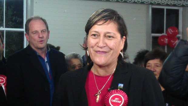 Meka Whaitiri and Labour Party leader David Shearer (left).