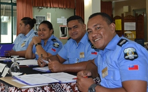 Participants in workshop on gender violence for Pacific police.
