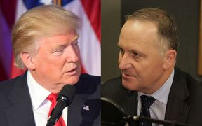 Donald Trump and John Key