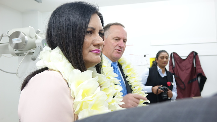 Parmjeet Parmar and John Key on the campaign trail ahead of the Mt Roskill by-election.