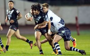 Kiwi Tohu Harris in action against Scotland 2016.