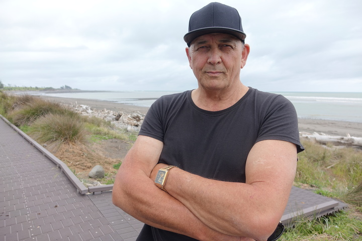 Jim Reynolds said he wouldn't go into the water or collect kai moana at the Waitara river mouth any more.