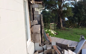 Pictures of damage to home of Cheviot GP Anthea Prentice, at Claverley, near Cheviot.