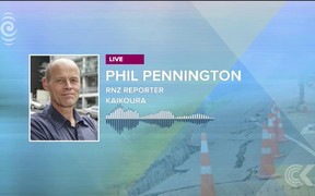 Phil Pennington joins Checkpoint from Kaikoura