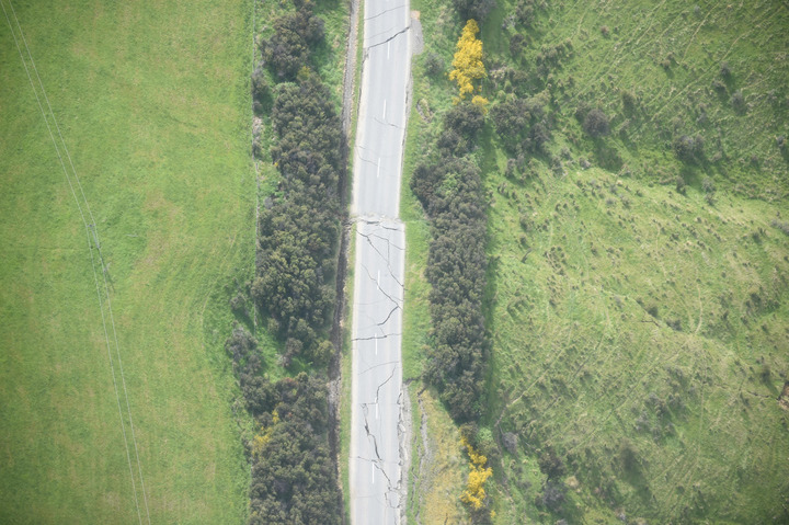 Inland Road, about 39km southwest of Kaikoura, suffered extensive damage from the earthquake.