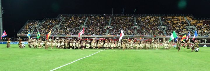 The FIFA Under 20 Women's World Cup opening ceremony at Sir John Guise Stadium in Port Moresby.