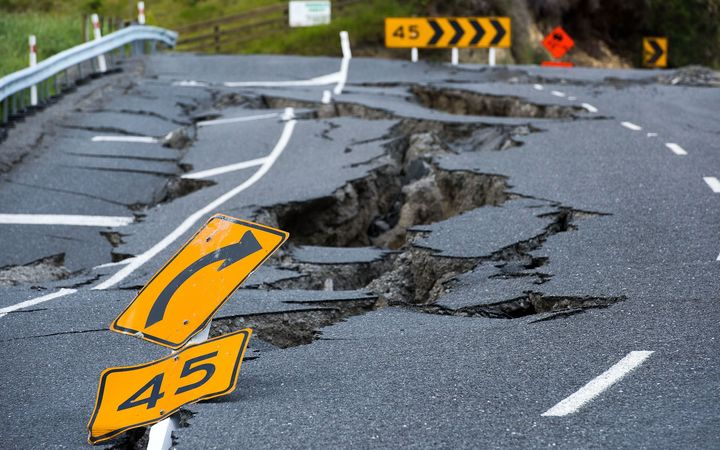 Quake damage to SH1