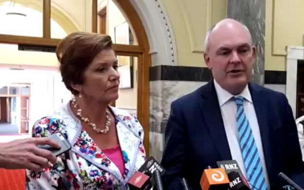 Steven Joyce and Anne Tolley