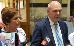 Social Development Minister Anne Tolley and Economic Development Minister Steven Joyce announcing the measures at Parliament this afternoon.