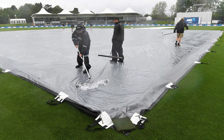 Groundstaff at Hagley Oval.