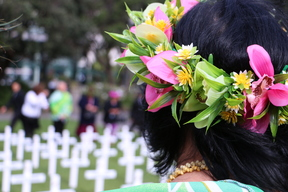 Almost 200 people gathered at Parliament in New Zealand to commemorate the 45 Cook Island men who enlisted to serve in the First World War 2016.