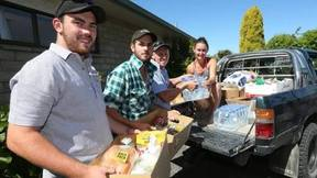 NZ Farming on their way to rural  areas, (left to right) Josh Tomlinson-Nott, Michael Kerr, Tyler Fifield.