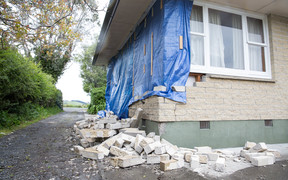 Gary Melville's quake damaged home in Kaikoura.