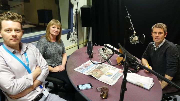 Keith Lynch of stuff.co.nz and Dominion Post editor Bernadette Courtney in the Mediawatch studio.