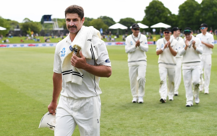 Black Caps all-rounder Colin de Grandhomme on debut