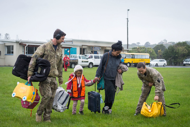 The Defence Force evacuate a woman and child from Kaikoura