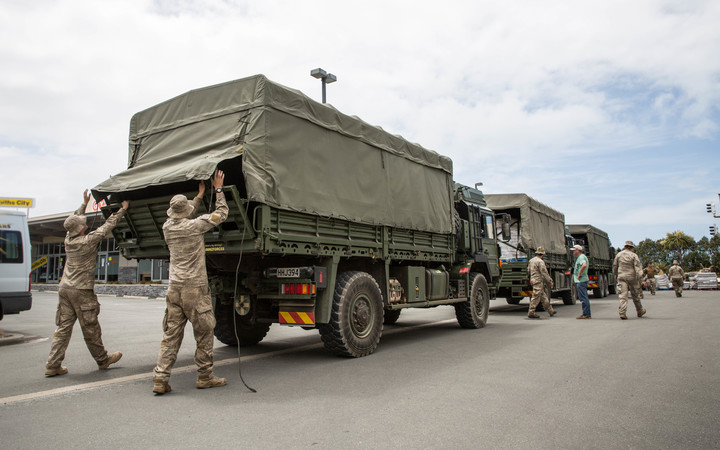 A second army convoy arrives in Kaikoura, delivering supplies to the local New World.
