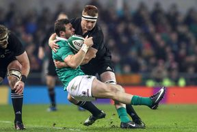 Sam Cane's tackle on Ireland's Robbie Henshaw has been cited.