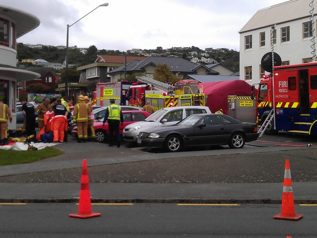 Emergency services were called to Peter Dunne's electorate office in Johnsonville.