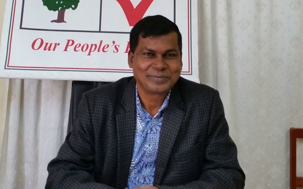 The leader of Fiji's National Federation Party, Biman Prasad.