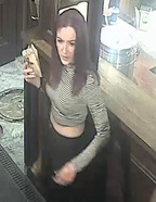 Police are looking for this woman, accused of throwing hot liquid at a woman at a burger bar in Queenstown.