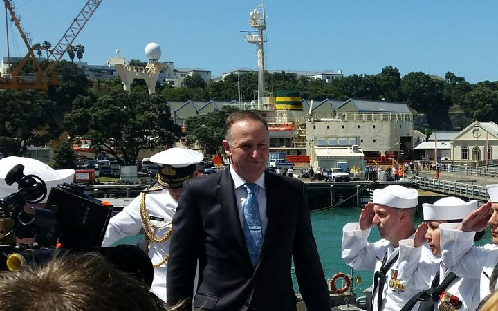 Image result for uss sampson john key