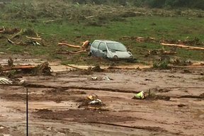 Torrential rain caused widespread destruction