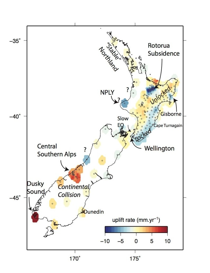 Just-published tectonic research gives some insight into what sea levels in New Zealand could look like in the future.