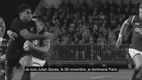 A screen grab of the Julian Savea video from Adidas shows footage of Malakai Fekitoa