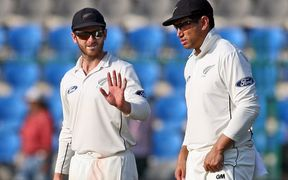 Black Caps captain Kane Williamson and Ross Taylor (right).