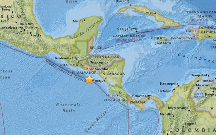 Image result for Magnitude 7 offshore quake shakes Central America, no damage seen