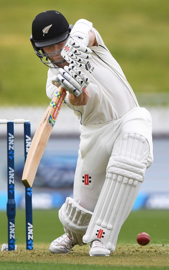 Kane Williamson before being undone by the DRS system.